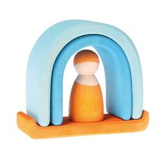 Small Cave with Peg Doll from Grimm's Wooden Toys.
