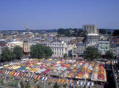 Norwich market place and castle