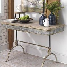 Metal and Wood Work Table