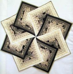 Spinning Star Table Topper - Quilting Digest