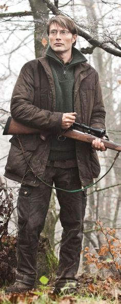 Mads Mikkelsen, The Hunt. Excellent movie.