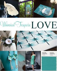 Turquoise wedding! Love love love it!