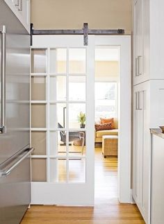 Barn Style Interior Doors | These barn doors also can be used as pantry doors in a kitchen, a door ...