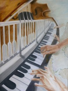 Far away, yet close - oil painting by Ildikó Mecséri Music Link, Positive Messages, Christian Art, Far Away, Bible, Paintings, Contemporary, Biblia, Painting Art
