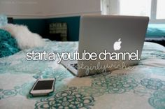 bucket list start a youtube channel - Google Search
