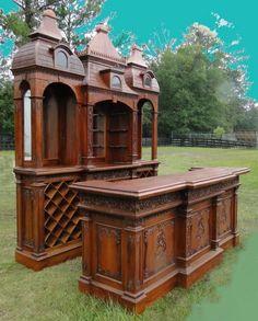 Giant Empire Massive antique vintage  Bar Furniture victorian Gothic Revival BIG #TheKingsBay #BritishColonial