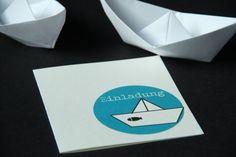 Einladung Konfirmation/Kommunion - PAPIER.BOOT von creartiv.box auf DaWanda.com