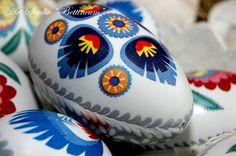 Pysanka egg with  Theme Lowicki   Polish easter by Bettineum, $25.00