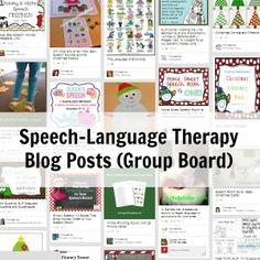 A group board where SLPs pin their blog posts! Follow all of your favorite SLP bloggers here!