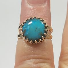 New gold turquoise ring