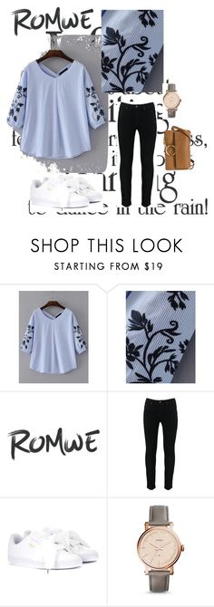 """""""romwe con."""" by decor4 ❤ liked on Polyvore featuring Puma, FOSSIL, Chloé, contest, romwe, polyvoreeditorial and romwefashion"""