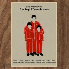 The Royal Tenenbaums poster // Etsy