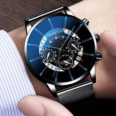 Watch Stainless Steel Calendar Quartz Wristwatch //Price: $8.55 & FREE Shipping // #house #style #art