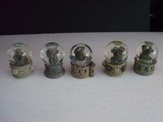 5 minature snow globe water gargoyle statue figurine gothic medieval