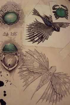Drawing Jewels for Fashion by Carol Woolton via echic.com