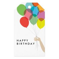 Bright Balloons Happy Birthday Gift Tag Pack Of Gift Tags