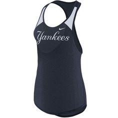 33b2fd7d952 Women s New York Yankees Nike Navy Legend Wordmark 1.7 Tank Top