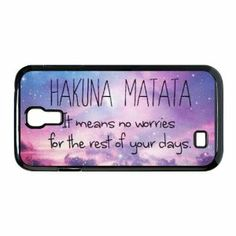 Amazon.com: Hakuna Matata Hard Plastic Back Cover Case for Samsung Galaxy S4: Cell Phones & Accessories