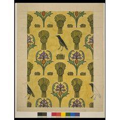 Textile design, 1920, C.F.A. Voysey