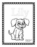 TeachersPayTeachers Puppy Resume Coloring Sheets