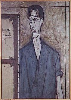 Bernard Buffet (1928-99) : Autoportrait (1949 - Musée d'Art Moderne de la ville de Paris)