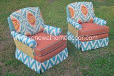 "Custom Order - Vintage Swivel Club Chairs ""Nancy's Custom Club Chairs"" - SOLD - Price per chair by ReNewalHomeDecor on Etsy https://www.etsy.com/listing/165511188/custom-order-vintage-swivel-club-chairs"