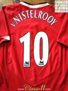 416e228a9 2004 05 Man Utd Home Premier League Football Shirt Nistelrooy  10 (B). Ruud Van  NistelrooyVintage JerseysMiddlesbroughManchester ...