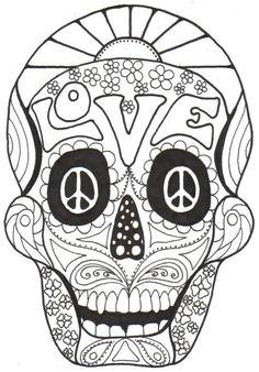 kay larch studios dia de los muertos coloring books - Simple Sugar Skull Coloring Pages