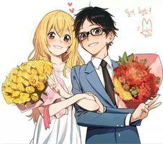 Kaori and Kousei | Shigatsu wa kimi no Uso
