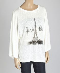 Look at this Cream Paris Scoop Neck Top on #zulily today!