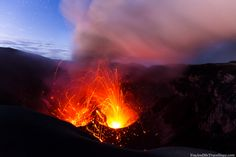 Dukono Volcano on Halmahera, Indonesia