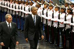 3/21/2016 Fidel Castro is out of sight as Obama visits Cuba.President Raúl Castro of Cuba with President Obama in Havana on Monday.