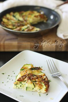 Apple, Zucchini, and Cheddar Frittata | my kitchen addiction
