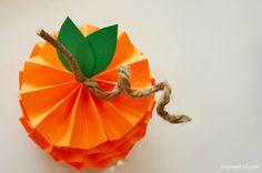 Mini Paper Pumpkin How To
