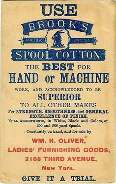Brook's Prize Medal Spool Cotton - Reverse
