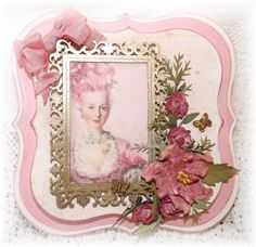 Card created using Imaginarium Designs Chipboard Frame.