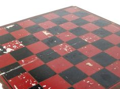 Vintage Red and Black Checkerboard Nonfolding