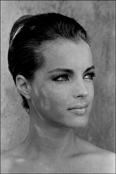 Romy Schneider, Taken by Jean-Pierre Bonnotte in St. Tropez during the same time Romy was filming La Piscine with Alain Delon.