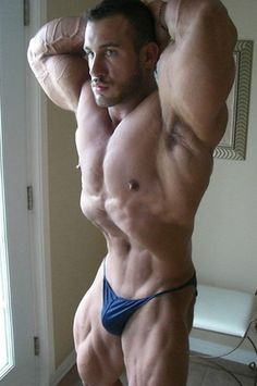 """wrestlehead: """"Antoine Valliant, handsome, vascular bodybuilder, and with his nipples at full mast """" True Canadian Beef!"""