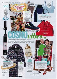 COSMOvibes say... its bucket bag season! Check out their spread in this months April edition