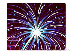 Night Firework Mouse Pad Style 112 Blue Purple Black by ATHiNGZ, $5.99