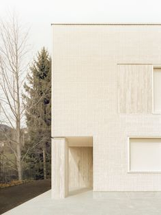 House of the Archeologist is a minimalist residence located in Varese, Italy, designed by LCA Architetti Contemporary Building, Contemporary Architecture, Architecture Details, Espace Design, Brick Texture, Architectural Section, Old Wall, Gaudi, Travertine