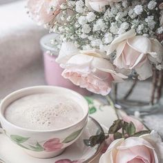 Garden Photos, Coffee Time, Beautiful World, Pretty In Pink, Tea Cups, Table Decorations, Tableware, Inspiration, Image