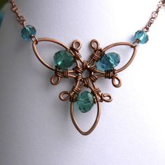 Propeller Focal Wire Wrapped Necklace | JewelryLessons.com