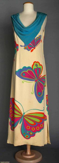 Hanae Mori Summer Gown, 1970s, Augusta Auctions, April 9, 2014 - NYC