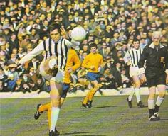 Jeff Astle of West Brom in action against Everton in 1969.