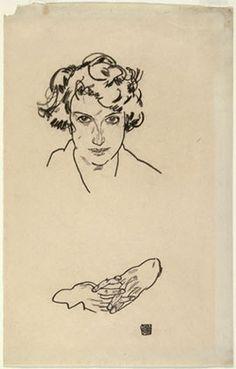 Egon SCHIELE portrait 1917