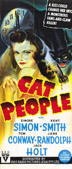 """Director Val Lewton's masterpiece """"Cat People""""; the original 1940s version. Horror by suggestion and implication..."""