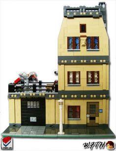 Tan Modular House: A LEGO® creation by Ruben Ras