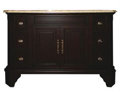 Yosemite Home Decor Single 48 in. W Mahogany Birch with MDF Vanity - TAMARACK48SV5. TAMARACK48SV5 - Single 48 in. W Mahogany Birch with MDF Vanity 48 in. W Mahongy finish Single Vanity Product Specifications Main Cabinet Dimensions 48 W x 22 D x 34 H (inches) Basin is 18 W x 18 D x 6.5 H (inches) White Cer.. . See More Vanities at http://www.ourgreatshop.com/Vanities-C705.aspx